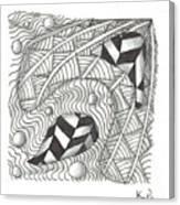 White Zen 18 Canvas Print