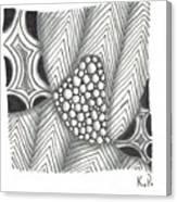 White Zen 19 Canvas Print