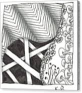 White Zen 21 Canvas Print