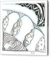 White Zen 23 Canvas Print