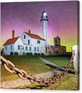Whitefish Point Lighthouse   Northern Lights -0524 Canvas Print