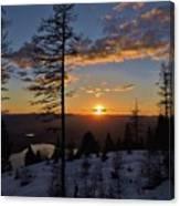 Whitefish Sunset Canvas Print