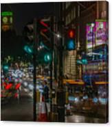 Whitehall London At Night  Canvas Print