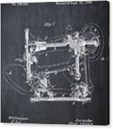 Whitehill Sewing Machine Patent 1885 Chalk Canvas Print