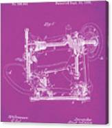 Whitehill Sewing Machine Patent 1885 Pink Canvas Print