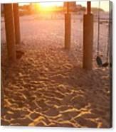 Whitehorse Beach - Swings Canvas Print