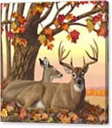 Whitetail Deer - Hilltop Retreat Horizontal Canvas Print