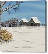 Winter Deer  Lookout Canvas Print