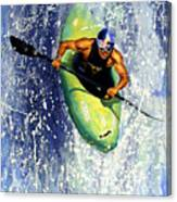 Whitewater Kayaker Canvas Print