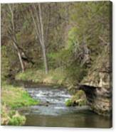 Whitewater River Spring 45 A Canvas Print