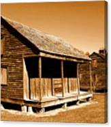 Whitney Plantation Slave Cabins Canvas Print