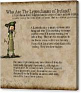 Who Are The Leprechyauns Of Ireland Canvas Print