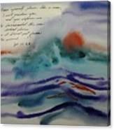 Who Barricated the Sea? Canvas Print