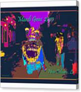 Who Dat At Night In The Quarter Canvas Print