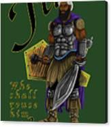 Who Shall Rouse Judah-yellow Trim Canvas Print