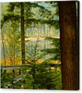Whonnock Lake Through The Trees Canvas Print