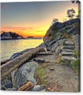 Whytecliff Park Sunset Canvas Print