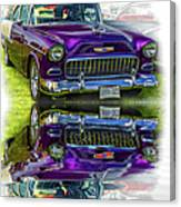Wicked 1955 Chevy - Reflection Canvas Print