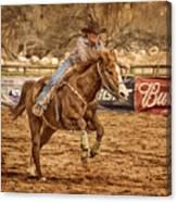 Wickenburg Senior Pro Rodeo Barrel Racing Canvas Print