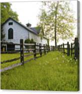 Widener Farms Horse Stable Canvas Print