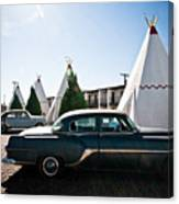Wigwam Motel Classic Car #5 Canvas Print