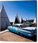 Wigwam Motel Classic Car #6 Canvas Print