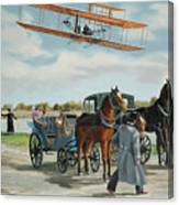 Wilbur Wright In France Canvas Print