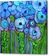 Wild Blue Poppies Canvas Print