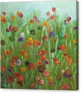 Wild Flowers Abstract Canvas Print