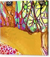 Wild Flowers Abstract Art - Sharon Cummings Canvas Print