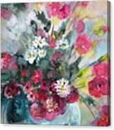 Wild Flowers Bouquet 01 Canvas Print