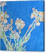 Wild Flowers on Blue Canvas Print
