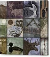 Wild Game Patchwork II Canvas Print