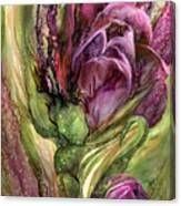 Wild Garden Tulips Canvas Print