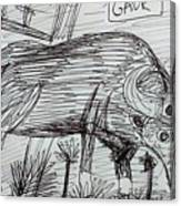 Wild Gaur Canvas Print