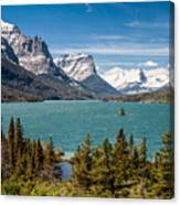 Wild Goose Island And The Peaks Of St Mary's Canvas Print