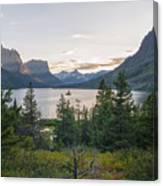 Wild Goose Island Sunset - Glacier National Park Montana Canvas Print