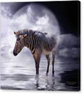 Wild In The Moonlight Canvas Print