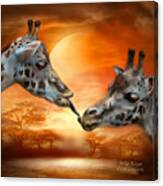 Wild Kisses Canvas Print