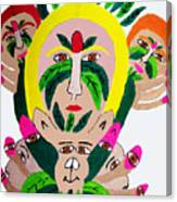 Wild Look Of The Green Plant Lady Canvas Print