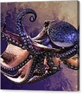 Wild Octopus Canvas Print