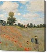 Wild Poppies Near Argenteuil Canvas Print