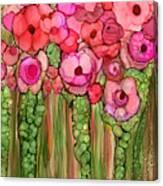 Wild Poppy Garden - Pink Canvas Print