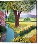 Wild Rose Creek Canvas Print
