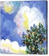 Wild Vineyard Quadriptych Part One Canvas Print