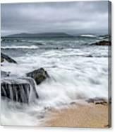 Wild Weather At Geodha Mhartainn On The Isle Of Harris Canvas Print