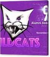 Wildcat 90 Logo Semi Comp4 Canvas Print