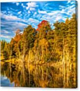 Wilderness Pond - Paint Canvas Print