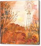 Wilderness Windmill Canvas Print
