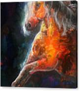 Wildfire Fire Horse Canvas Print